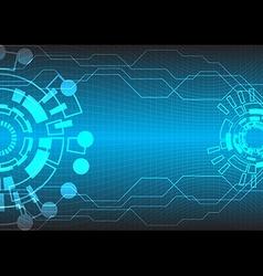 abstract tech bg two circle vector image