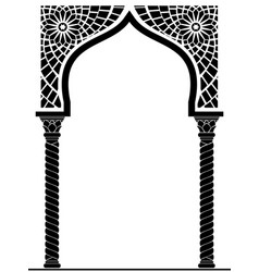 Arch in arabic style vector