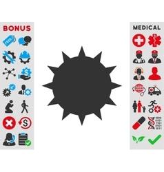 Bacterium icon vector