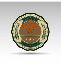 Badge for labour day vector
