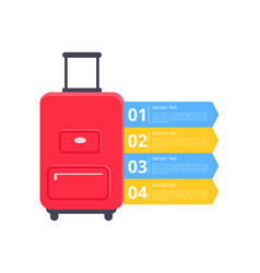 baggage packing instructions vector image