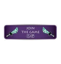 Banner template dagger vector
