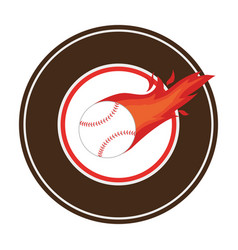 Baseball sport equipment emblem icon vector