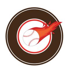 baseball sport equipment emblem icon vector image