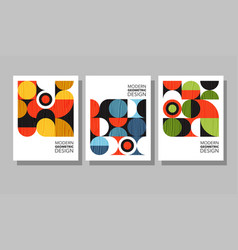 bauhaus geometric graphic design covers vector image