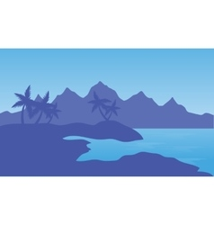 Beach and mountain vector