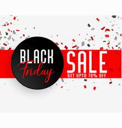 Black friday sale celebration banner vector
