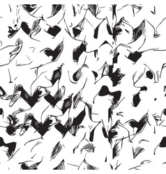 Black white seamless pattern background vector image