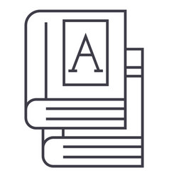 bookstext books line icon sign vector image