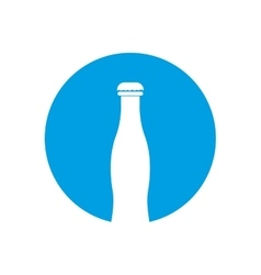bottle white pictogram color circle blue vector image