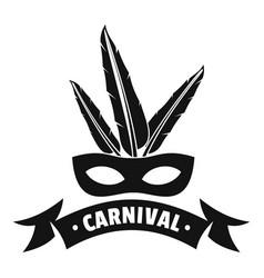 Brazil carnival logo simple black style vector