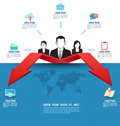 Business template Business two way concept vector