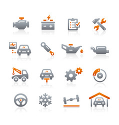 car service icons - graphite series vector image