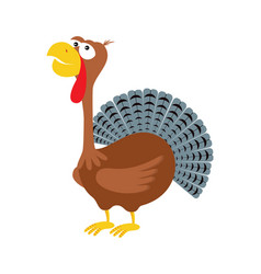 cartoon funny turkey vector image
