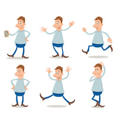 Cartoon man set vector