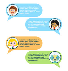chatbot and users chating vector image