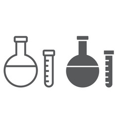 chemistry line and glyph icon school and vector image