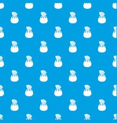 christmas bag of santa claus pattern seamless blue vector image