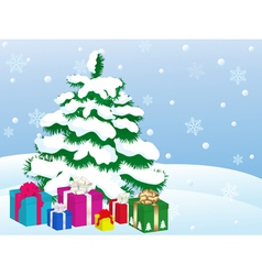 christmas gifts 3 vector image