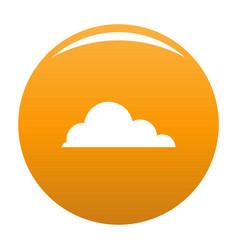Cirrus cumulus icon orange vector