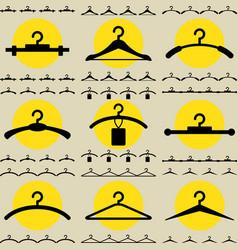 Clothes hanger icon for fashion or sale design vector