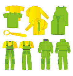 Collection of men work clothes vector