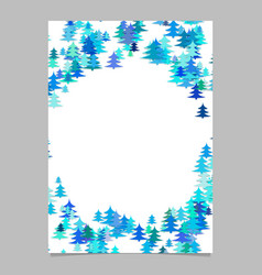 color abstract random seasonal pine tree card vector image