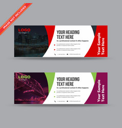 Corporate business banner design vector