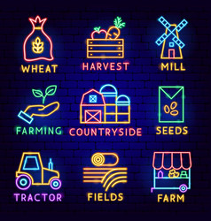 countryside label set vector image