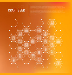 craft beer concept in honeycombs vector image