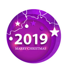 creative happy new year 2019 design happy new vector image