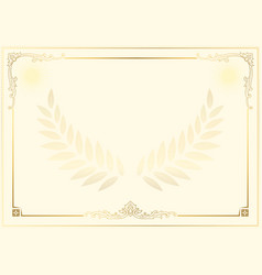 Decorative border and frame template in square vector