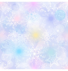 Delicate pastel Christmas pattern with snowflakes vector image