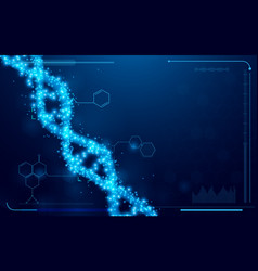 Dna and molecules interface virtual future vector
