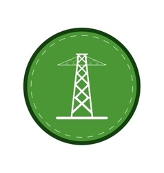 electrical tower transmission energy power green vector image