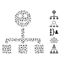 Ellipse collage happy hierarchy vector
