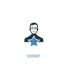 expert concept 2 colored icon simple blue element vector image