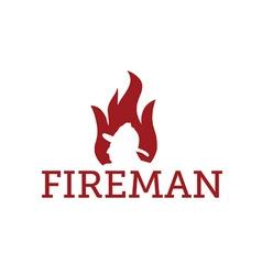 fereman in flame vector image