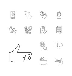 Finger icons vector