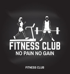 Fitness club no pain no gain for fitness vector