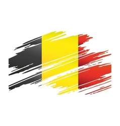 Flag Belgiumin the form traces brush vector image