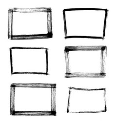 frame hand drawn set isolated on white background vector image