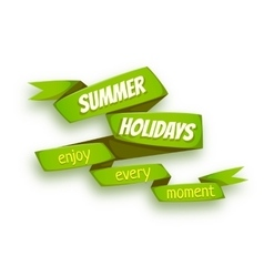 green ribbon with Summer vector image