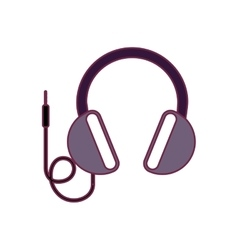 headphone audio device vector image