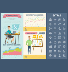 Human resource infographic template and elements vector