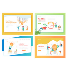 Idea business innovations concept landing page vector