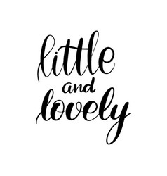 inspirational handwritten brush lettering vector image