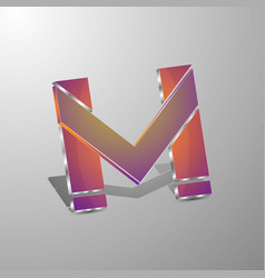 isolated 3d logo letters mconcept design vector image