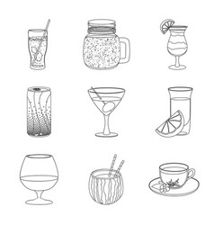 Isolated object drink and bar symbol vector