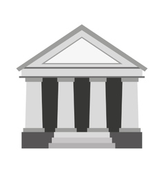 Justice building isolated icon vector